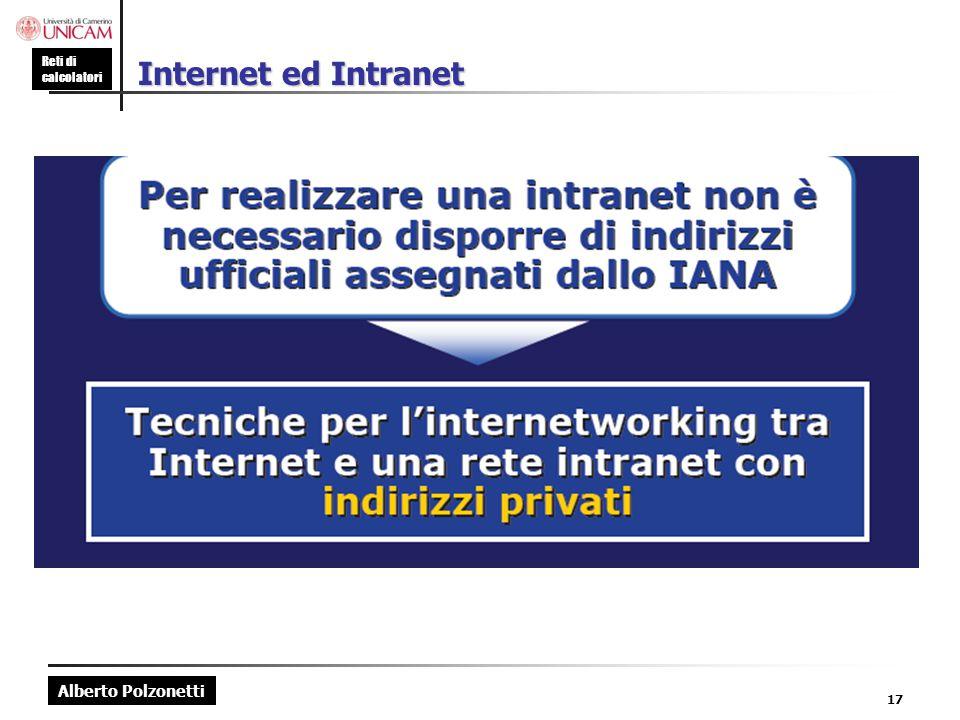 Internet ed Intranet