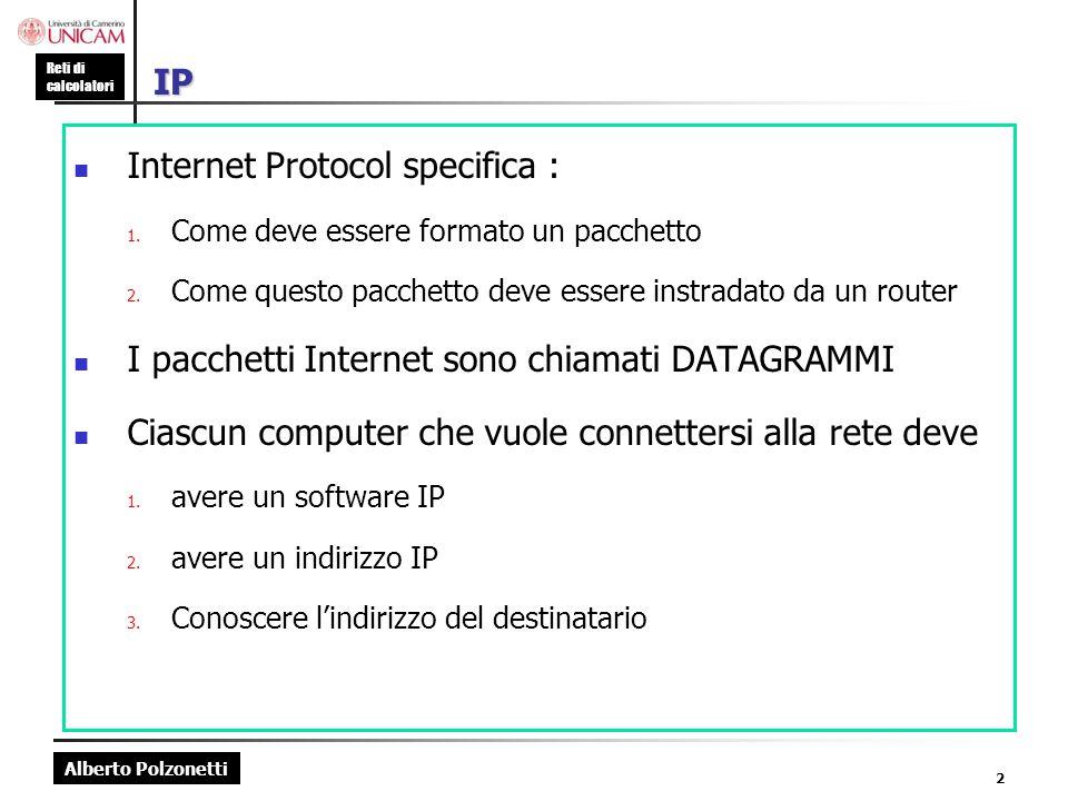 Internet Protocol specifica :