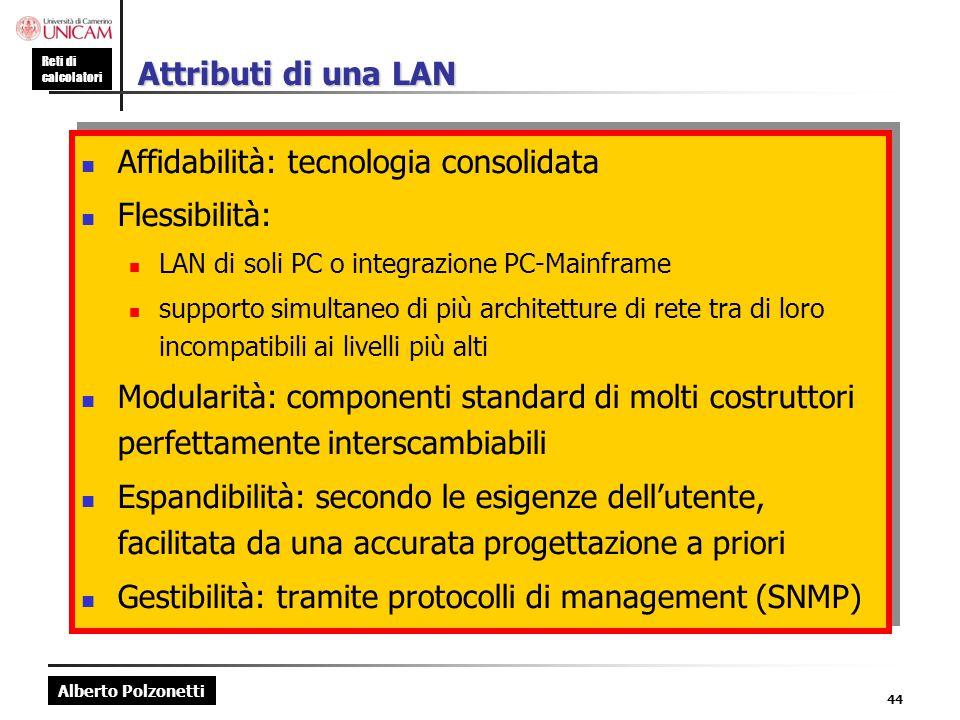 Affidabilità: tecnologia consolidata Flessibilità: