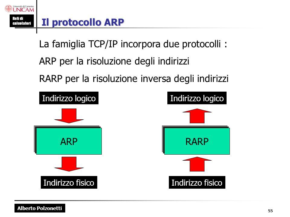 La famiglia TCP/IP incorpora due protocolli :