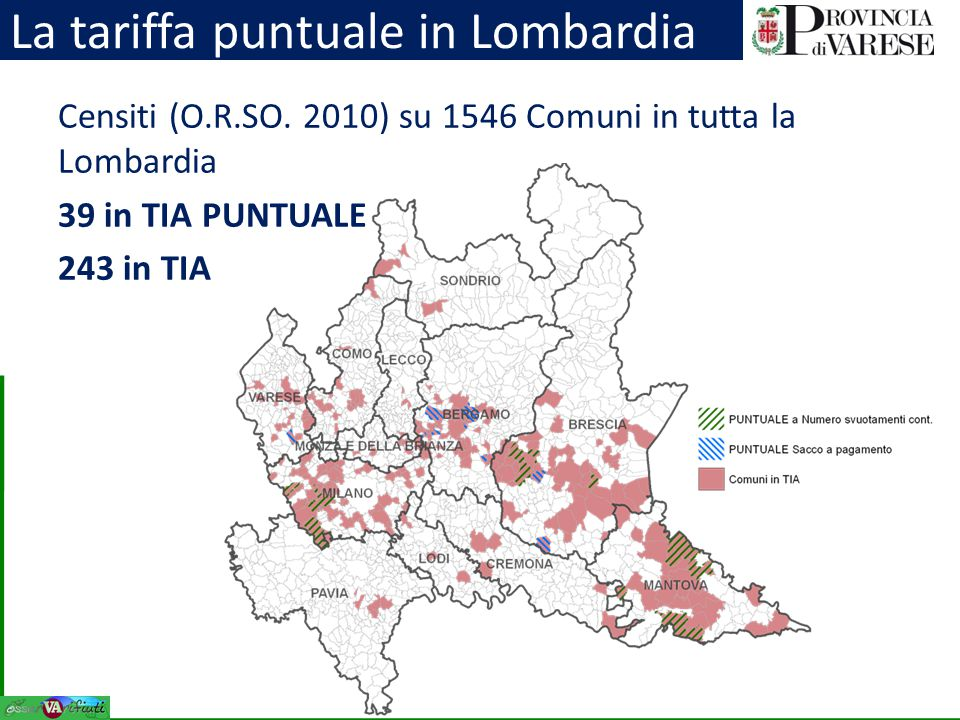 La tariffa puntuale in Lombardia