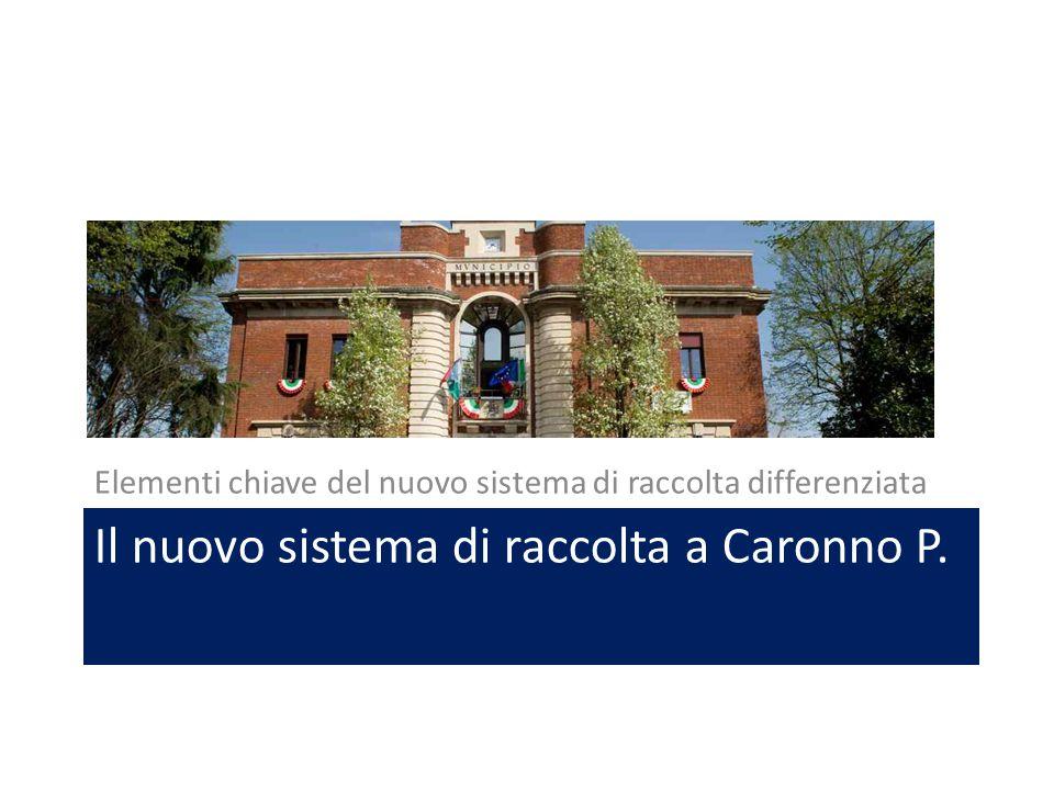 Il nuovo sistema di raccolta a Caronno P.