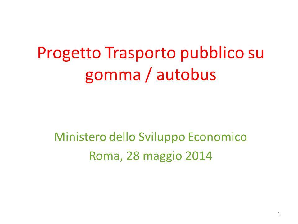 Progetto Trasporto pubblico su gomma / autobus