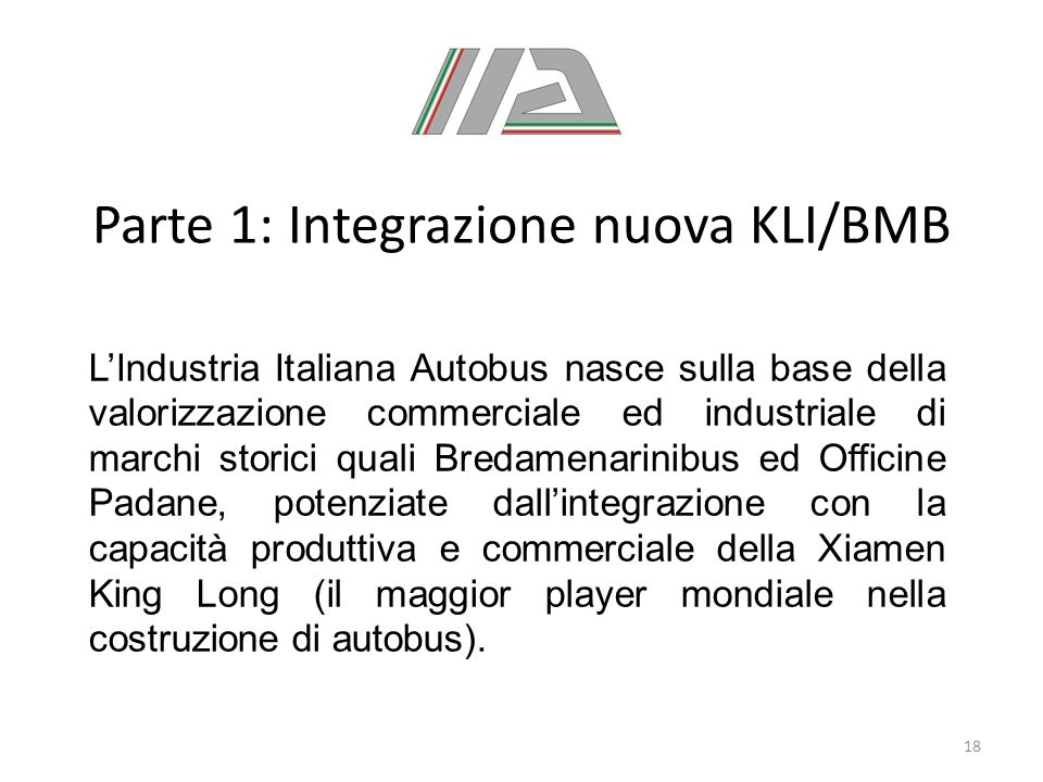 Parte 1: Integrazione nuova KLI/BMB