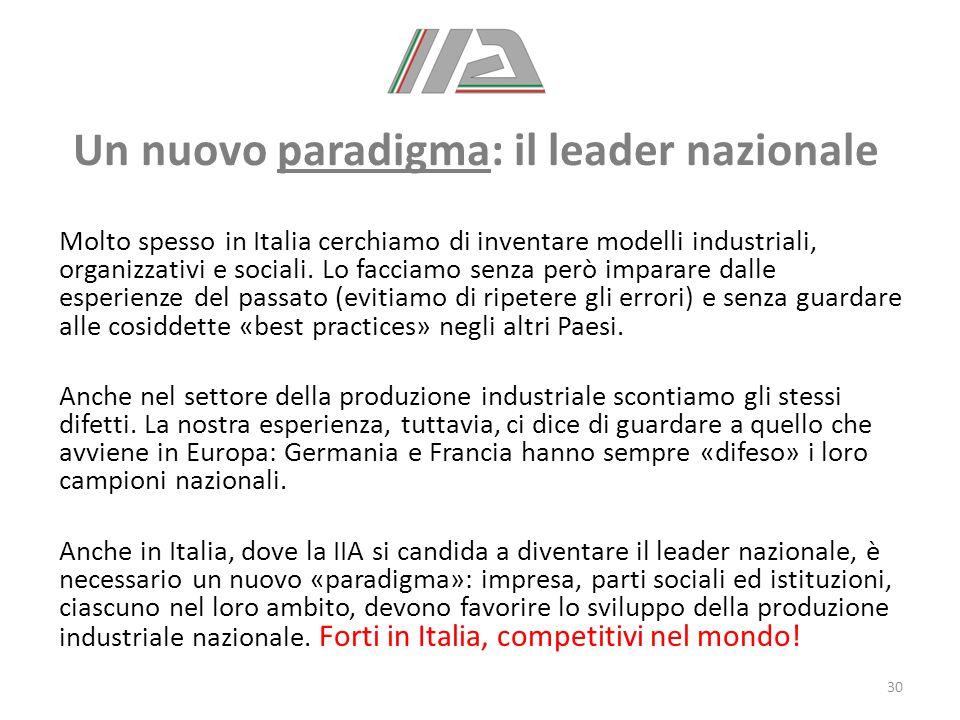 Un nuovo paradigma: il leader nazionale