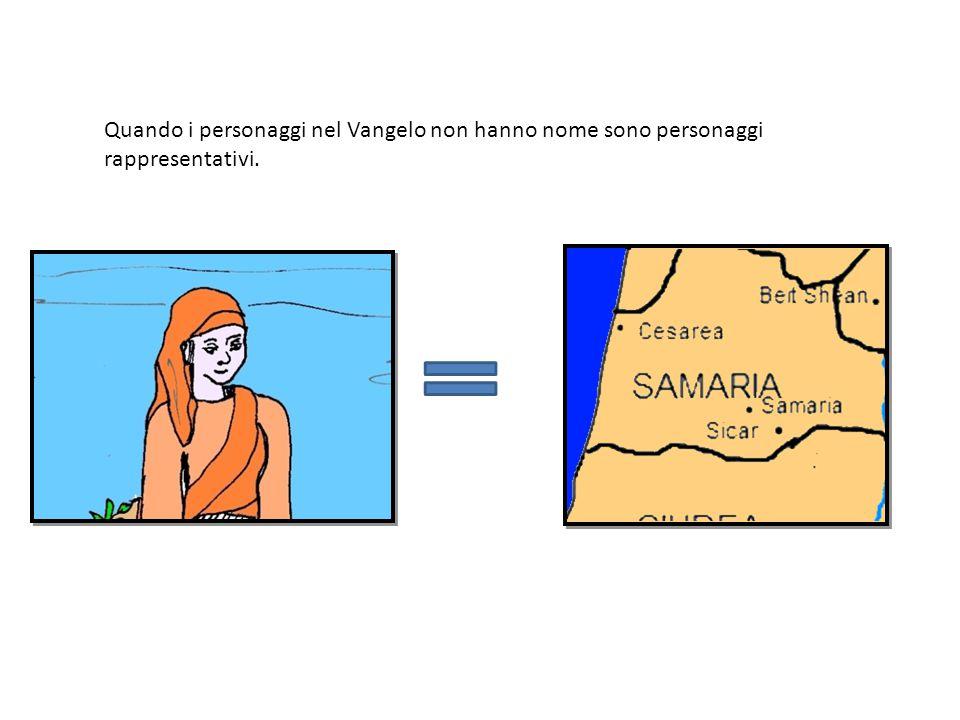Quando i personaggi nel Vangelo non hanno nome sono personaggi rappresentativi.
