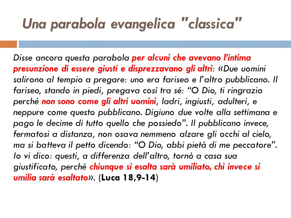 Una parabola evangelica classica