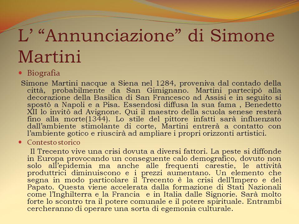 L' Annunciazione di Simone Martini