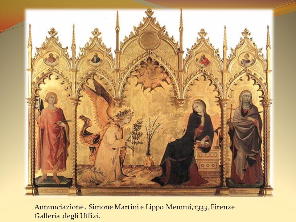 Annunciazione , Simone Martini e Lippo Memmi, 1333, Firenze Galleria degli Uffizi.