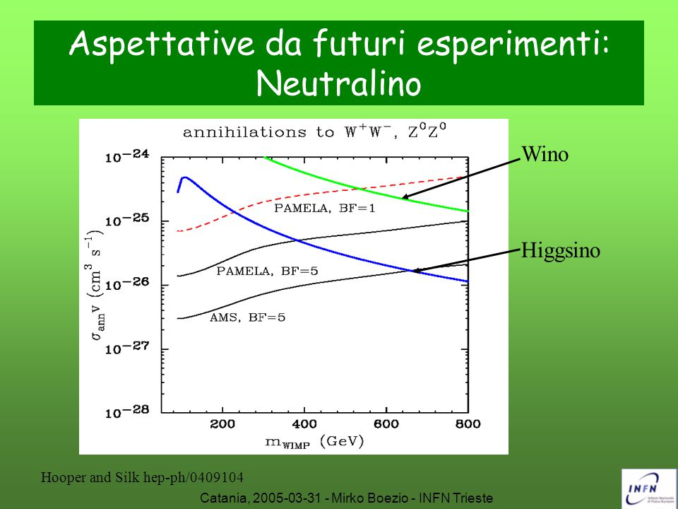 Aspettative da futuri esperimenti: Neutralino