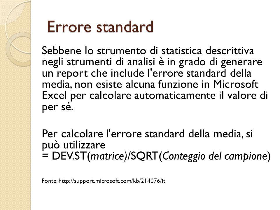 Errore standard