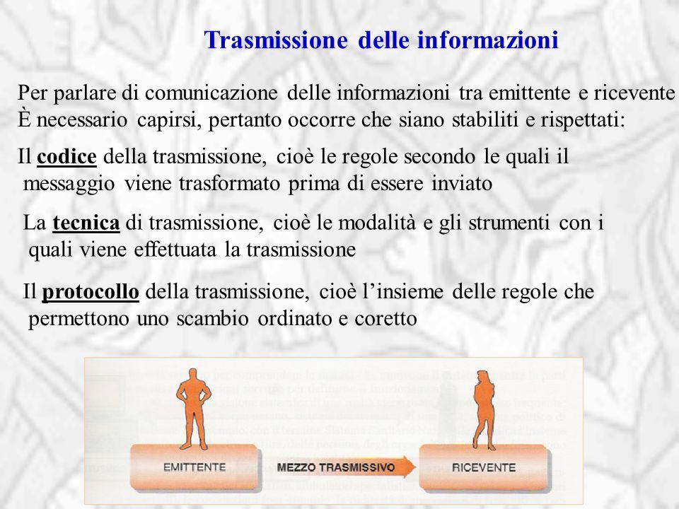 Trasmissione delle informazioni