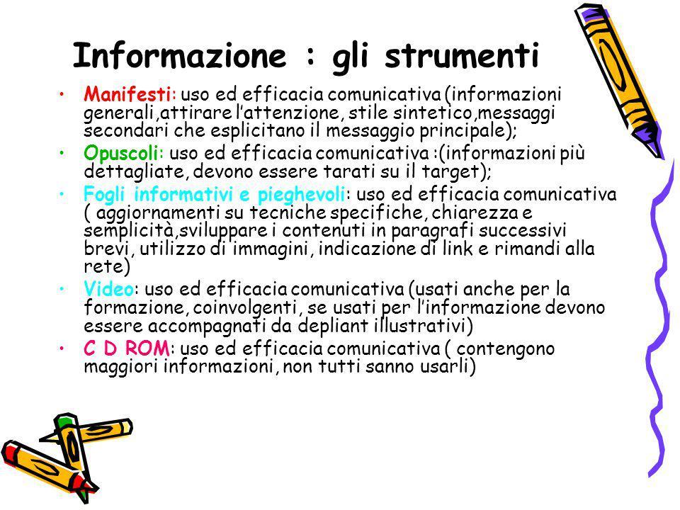 Informazione : gli strumenti