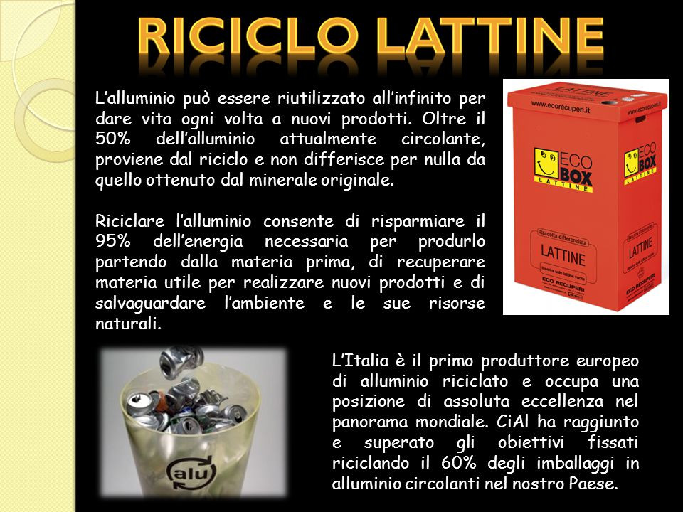 Riciclo lattine