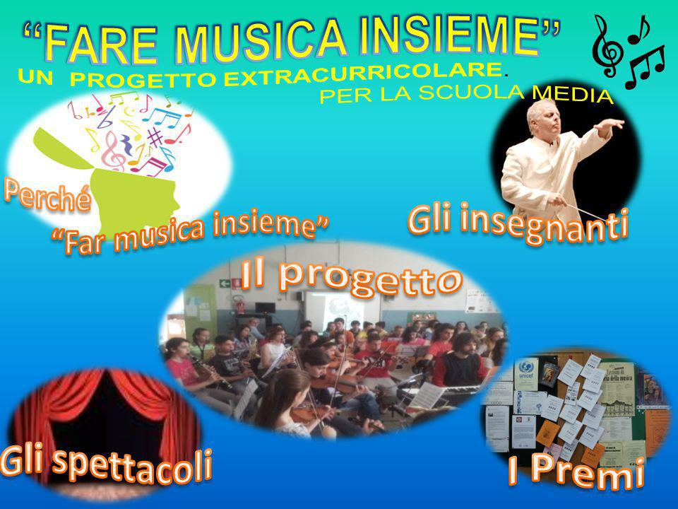FARE MUSICA INSIEME Gli insegnanti Il progetto Gli spettacoli