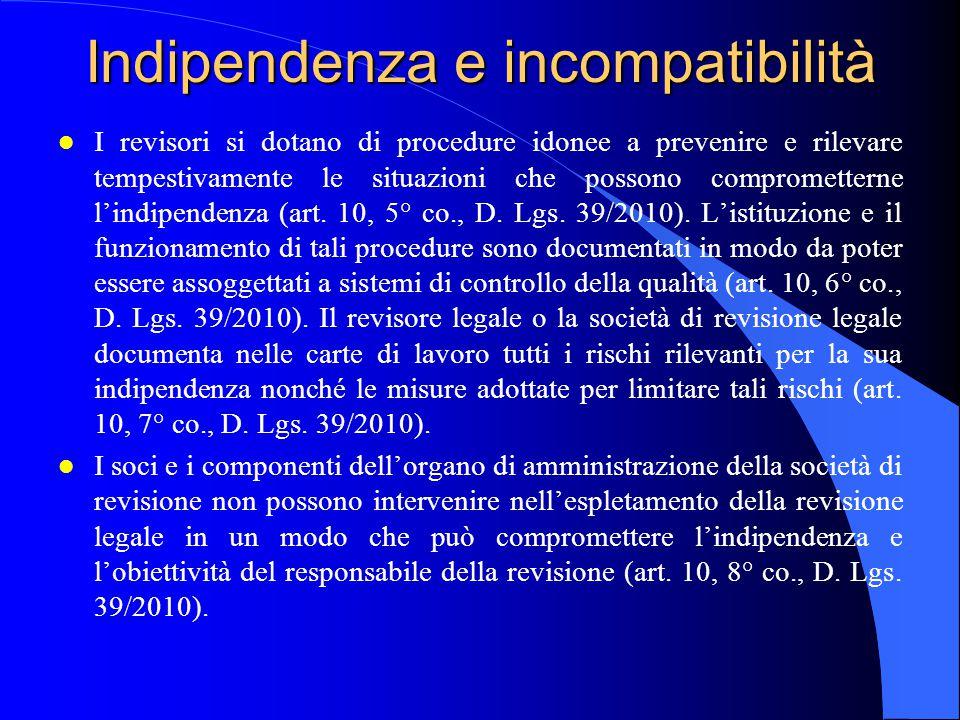Indipendenza e incompatibilità