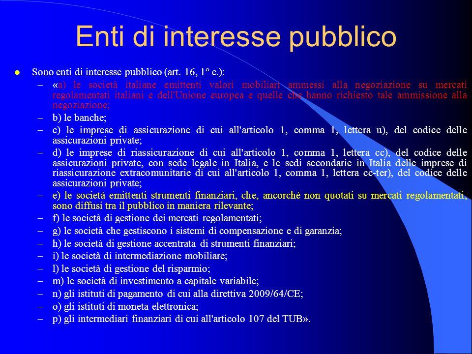 Enti di interesse pubblico