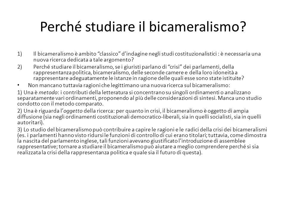 Perché studiare il bicameralismo