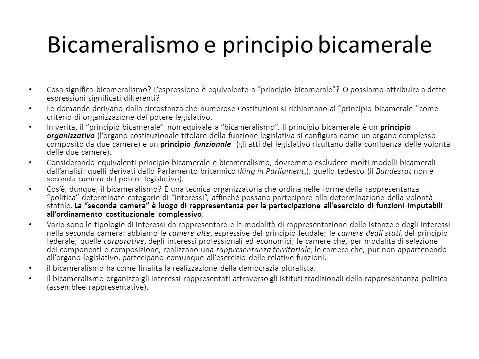 Bicameralismo e principio bicamerale