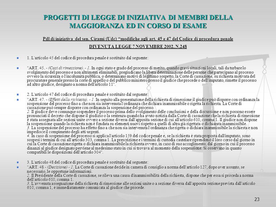 DIVENUTA LEGGE 7 NOVEMBRE 2002, N.248