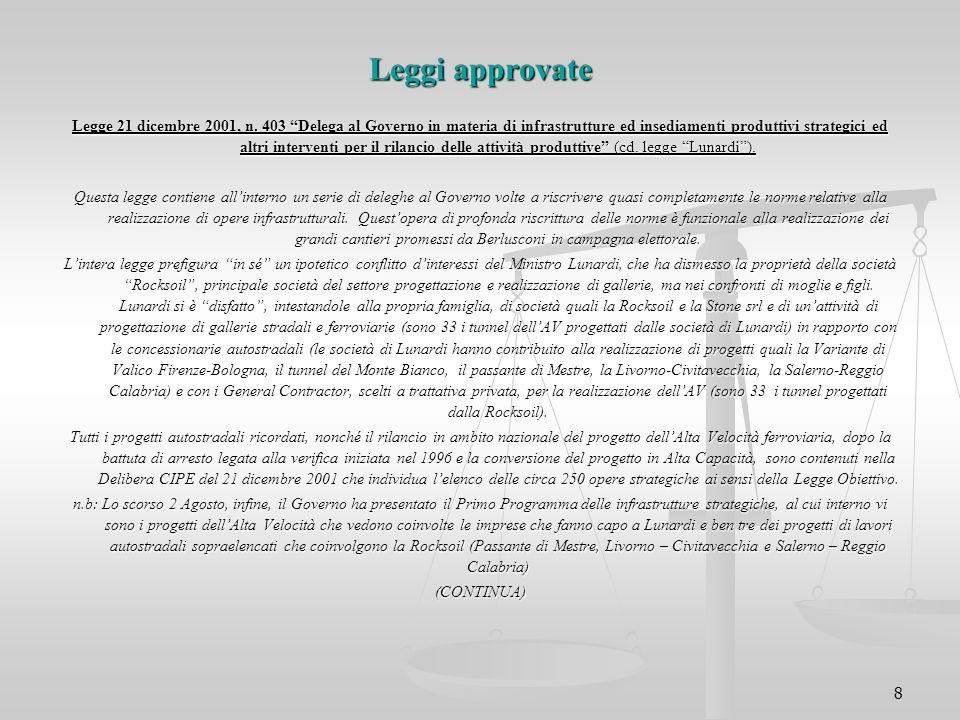 Leggi approvate