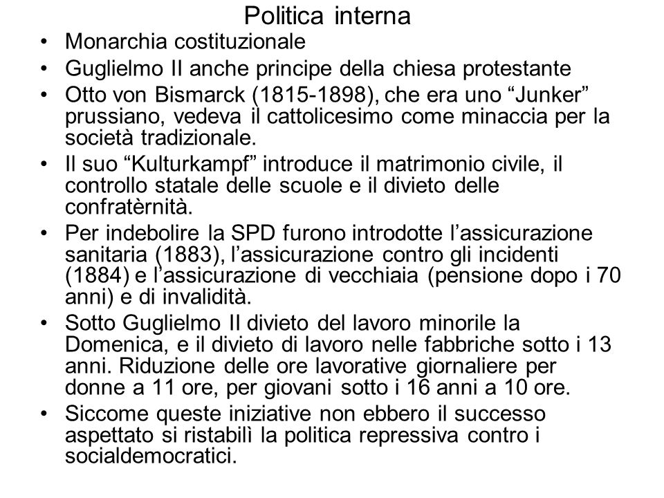 Politica interna Monarchia costituzionale