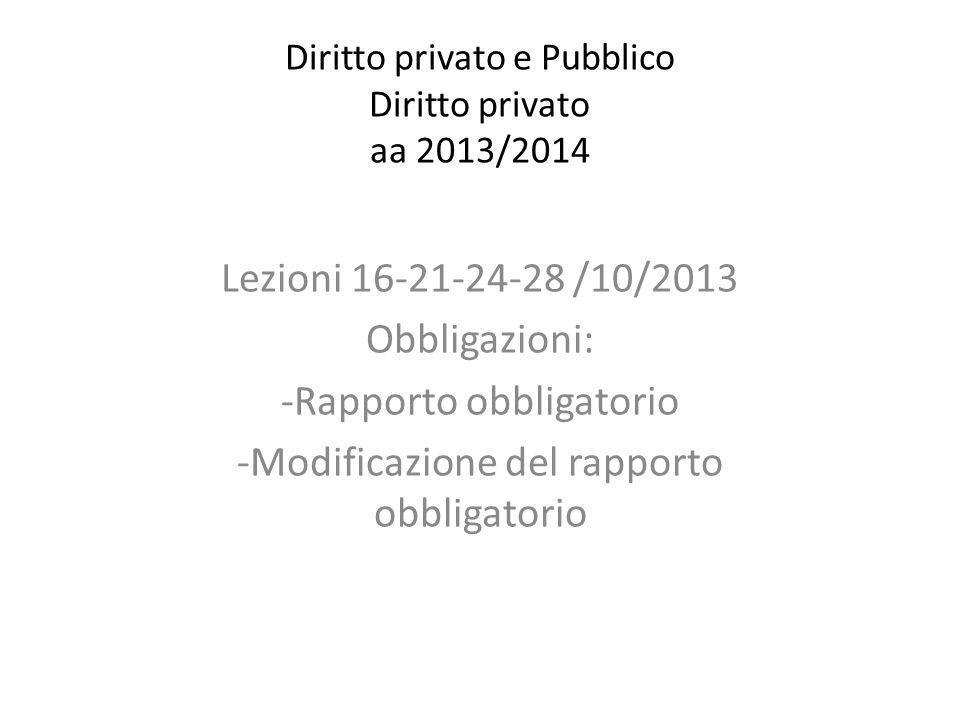 Diritto privato e Pubblico Diritto privato aa 2013/2014