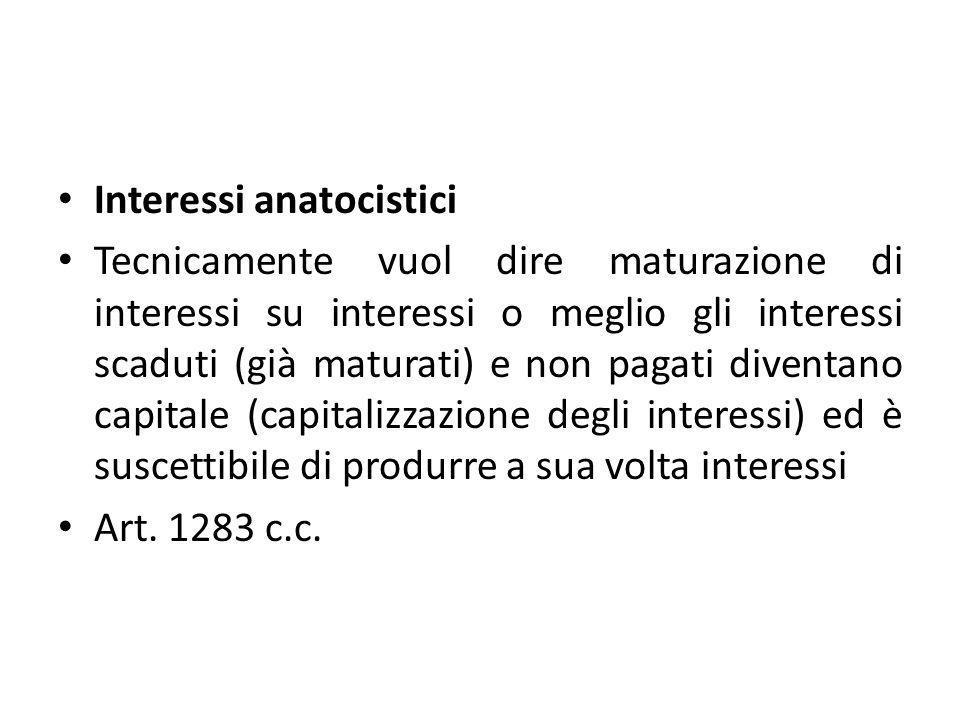 Interessi anatocistici
