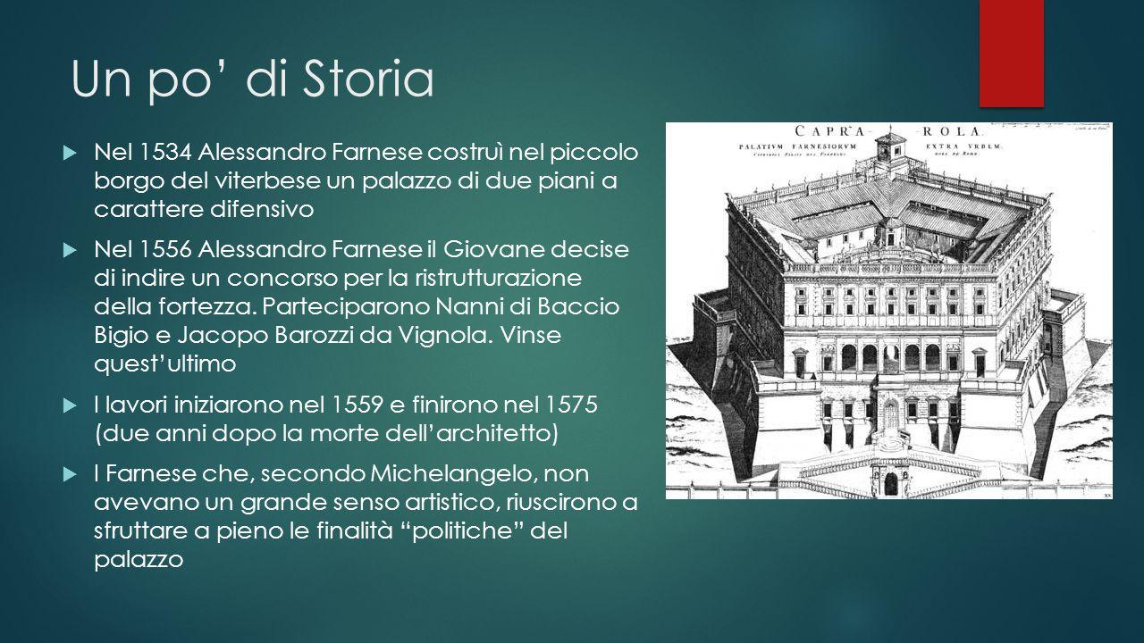 Un po' di Storia Nel 1534 Alessandro Farnese costruì nel piccolo borgo del viterbese un palazzo di due piani a carattere difensivo.