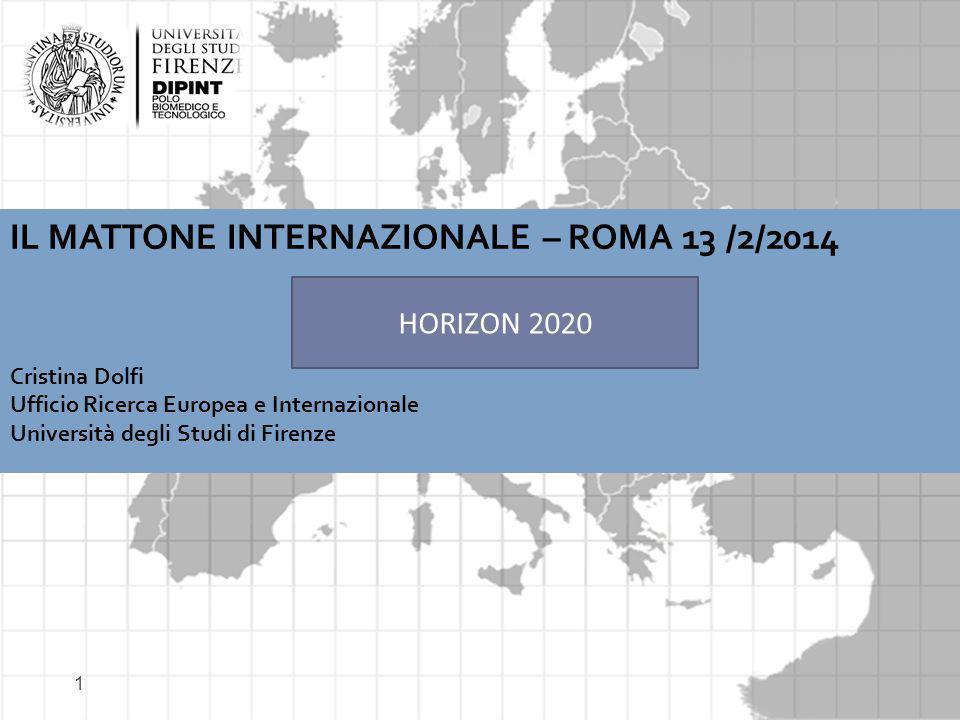 IL MATTONE INTERNAZIONALE – ROMA 13 /2/2014