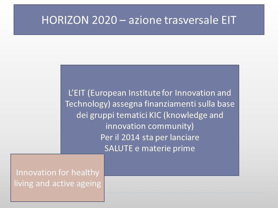 HORIZON 2020 – azione trasversale EIT