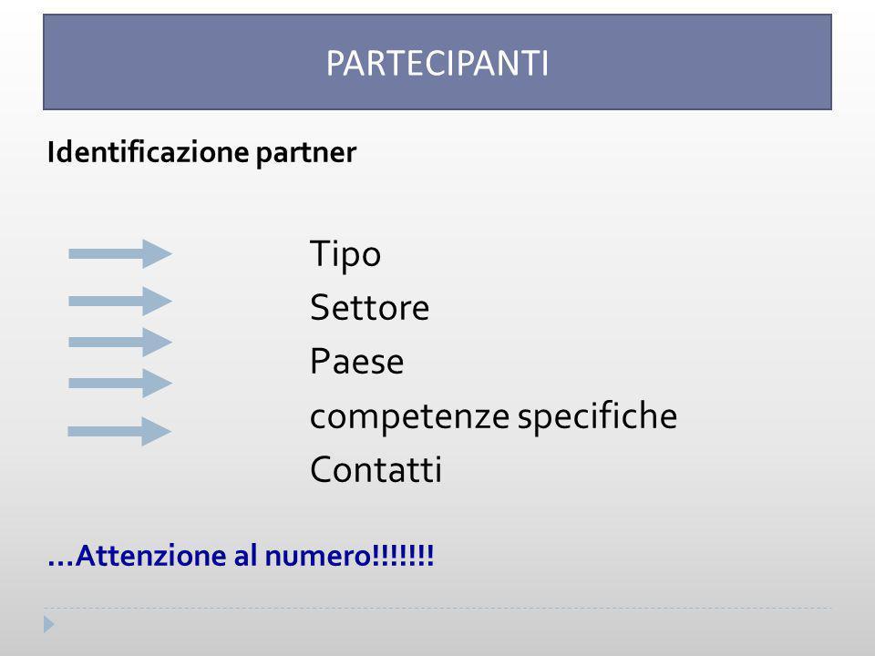 competenze specifiche Contatti