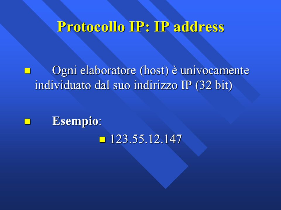 Protocollo IP: IP address