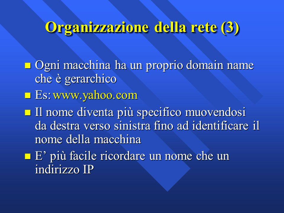 Organizzazione della rete (3)
