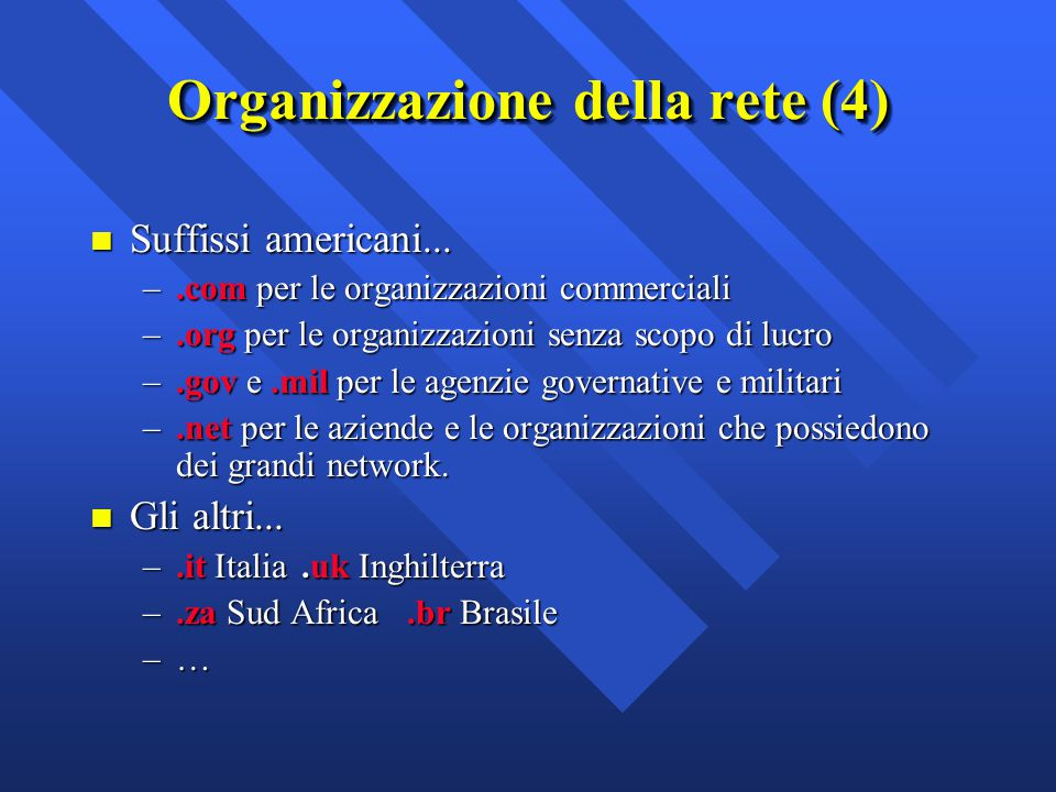 Organizzazione della rete (4)