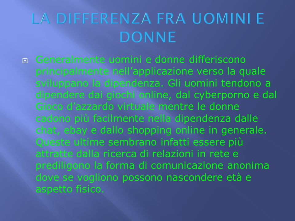 LA DIFFERENZA FRA UOMINI E DONNE
