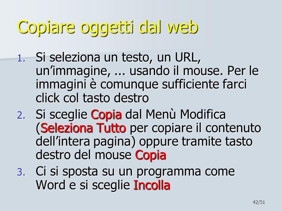 Copiare oggetti dal web