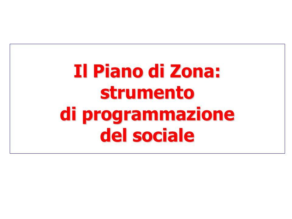 Il Piano di Zona: strumento di programmazione del sociale