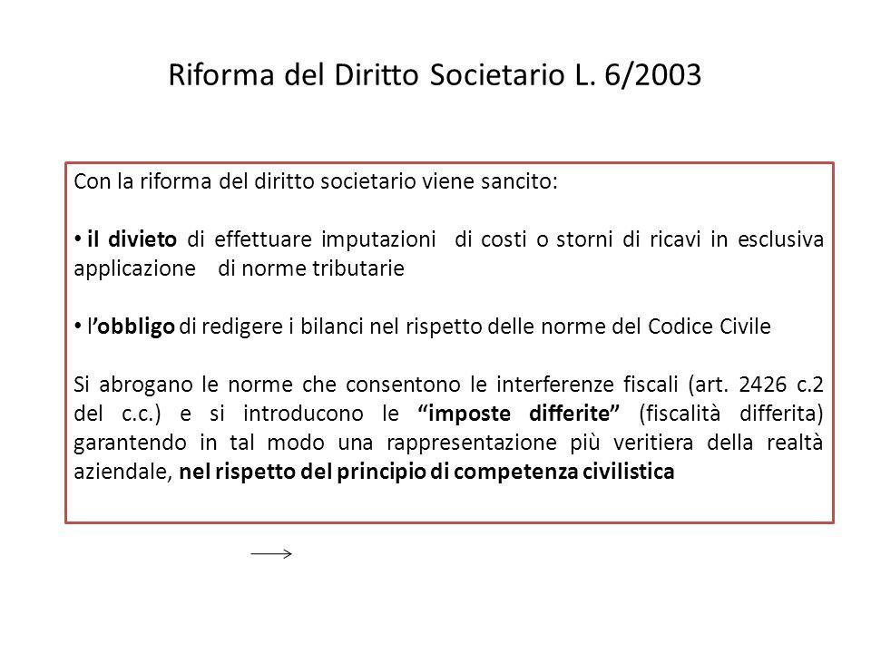 Riforma del Diritto Societario L. 6/2003