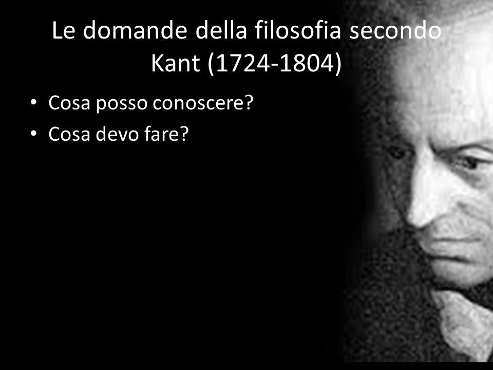 Le domande della filosofia secondo Kant (1724-1804)