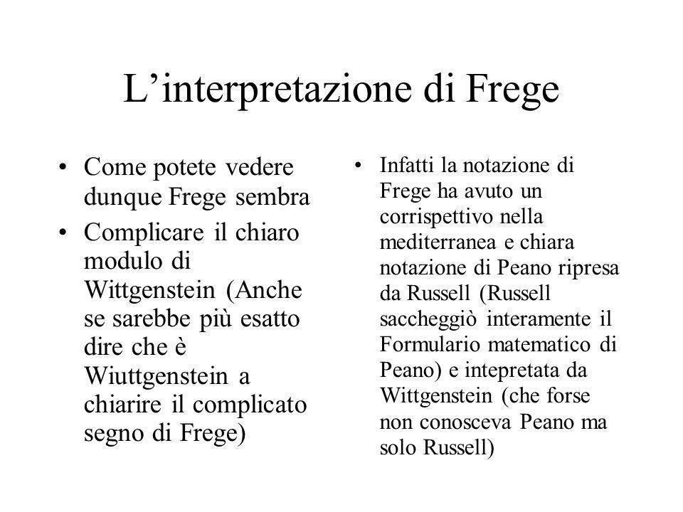 L'interpretazione di Frege