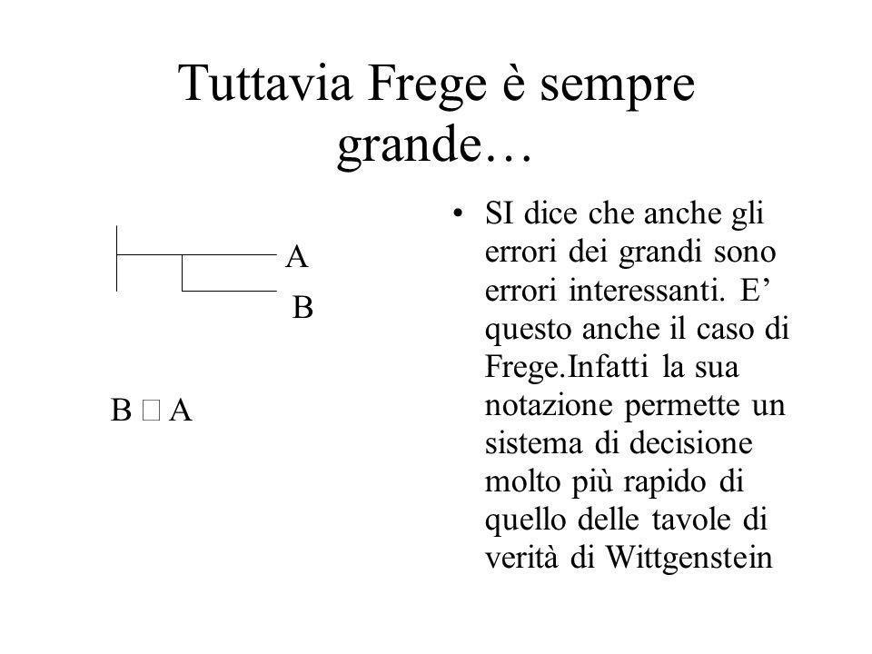 Tuttavia Frege è sempre grande…