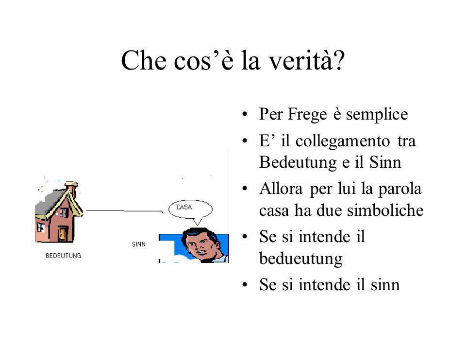 Che cos'è la verità Per Frege è semplice