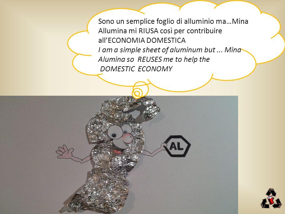 Sono un semplice foglio di alluminio ma…Mina Allumina mi RIUSA così per contribuire
