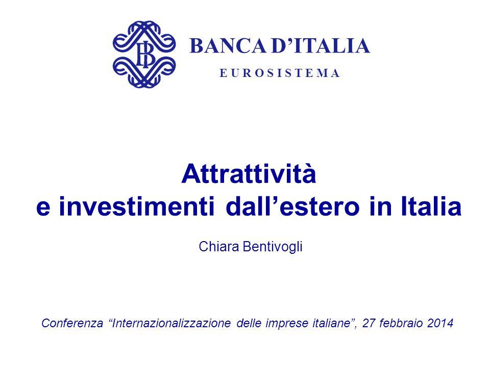 Attrattività e investimenti dall'estero in Italia Chiara Bentivogli