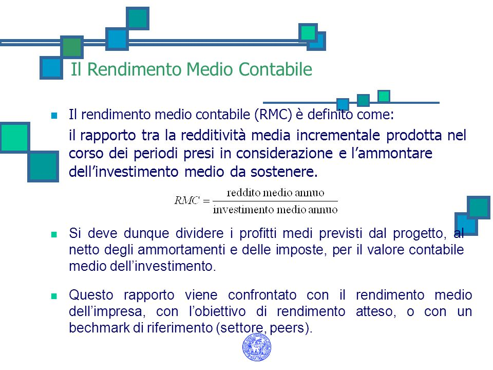 Il Rendimento Medio Contabile