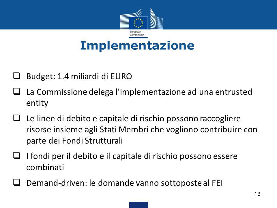 Implementazione Budget: 1.4 miliardi di EURO
