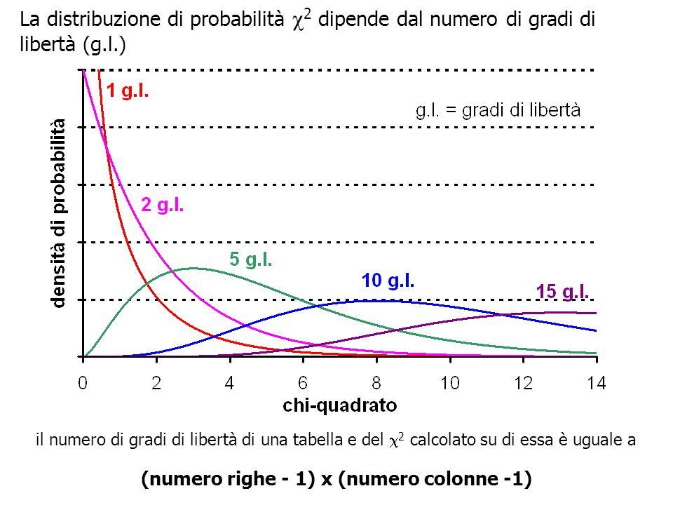 (numero righe - 1) x (numero colonne -1)
