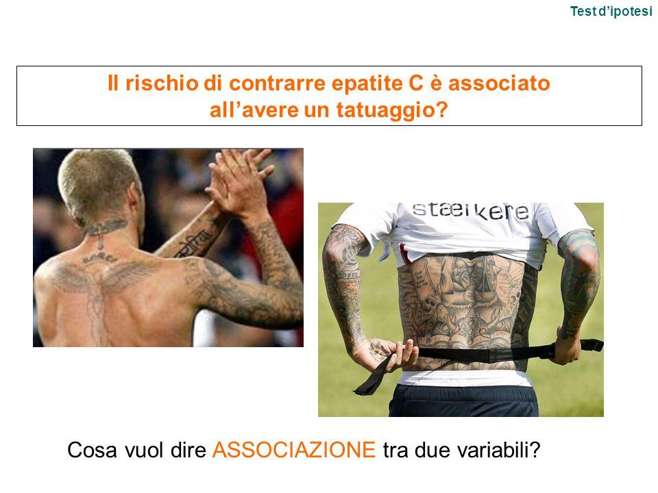 Il rischio di contrarre epatite C è associato all'avere un tatuaggio