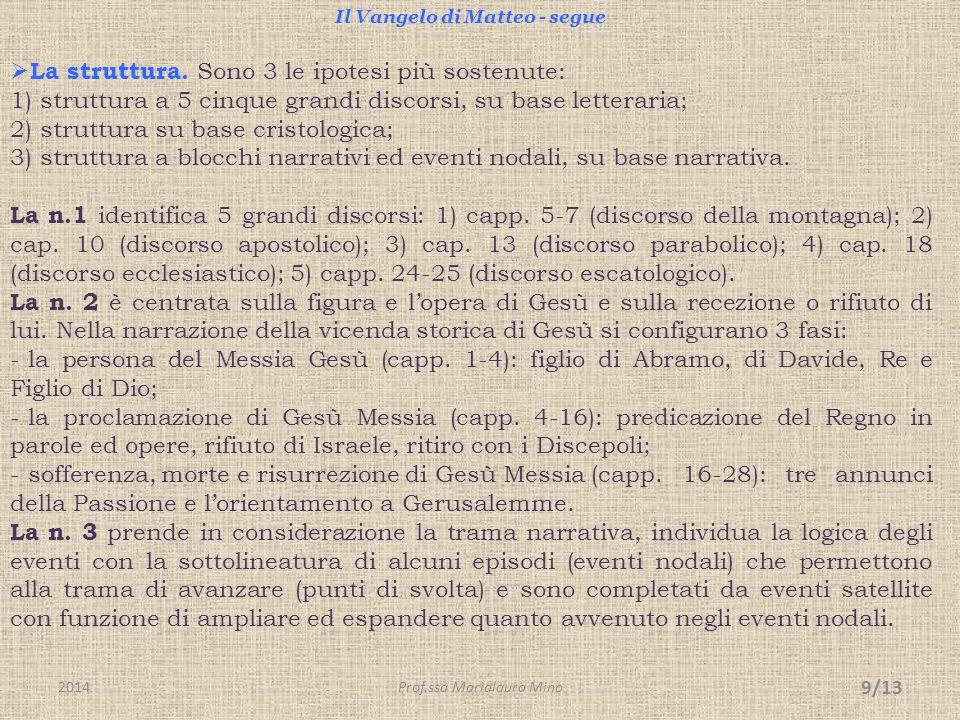 Il Vangelo di Matteo - segue